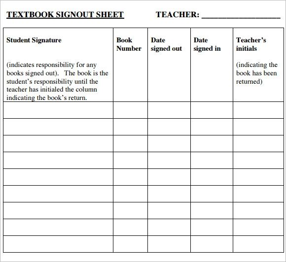 sign in sheet template printable