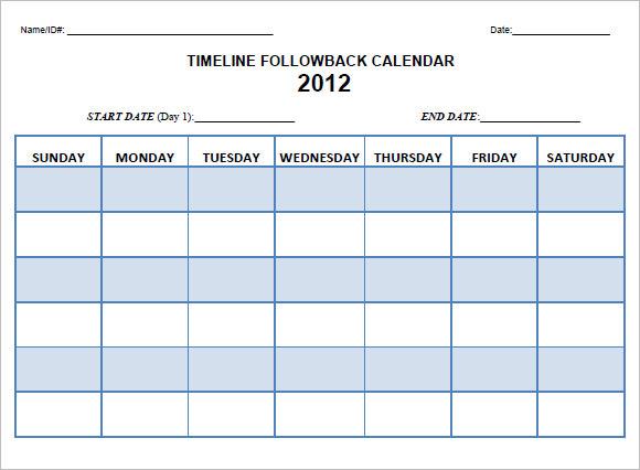 8 Calendar Timeline Templates Free Samples Examples Format
