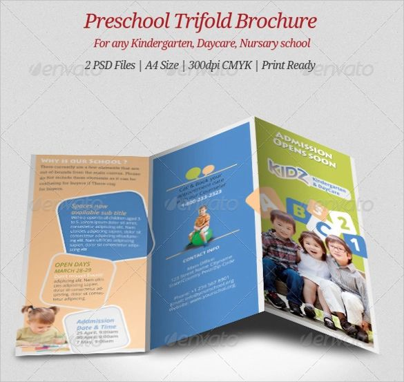 preschool brochure templates free