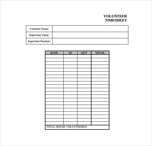 timesheet template download