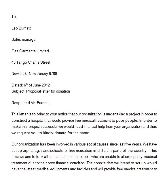 Sample Grant Proposal For Food Bank | Resignation Letter Format