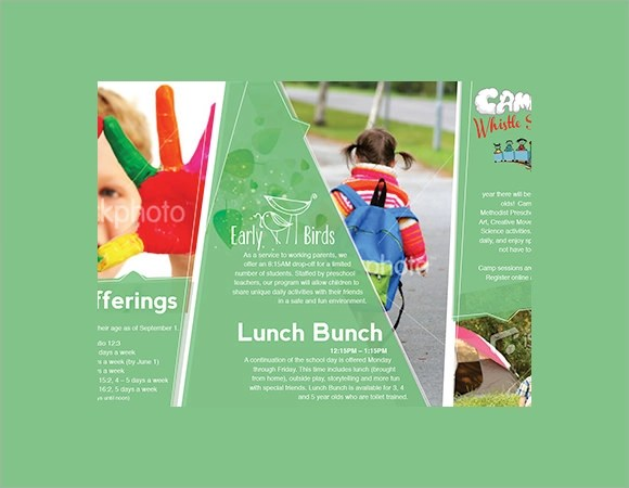 Preschool Brochure 9 Samples Examples Format