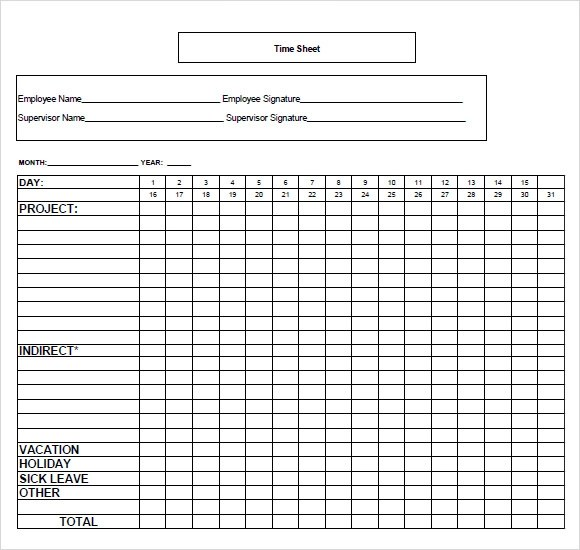 Free 10 Time Tracking Templates In Ms Word Excel