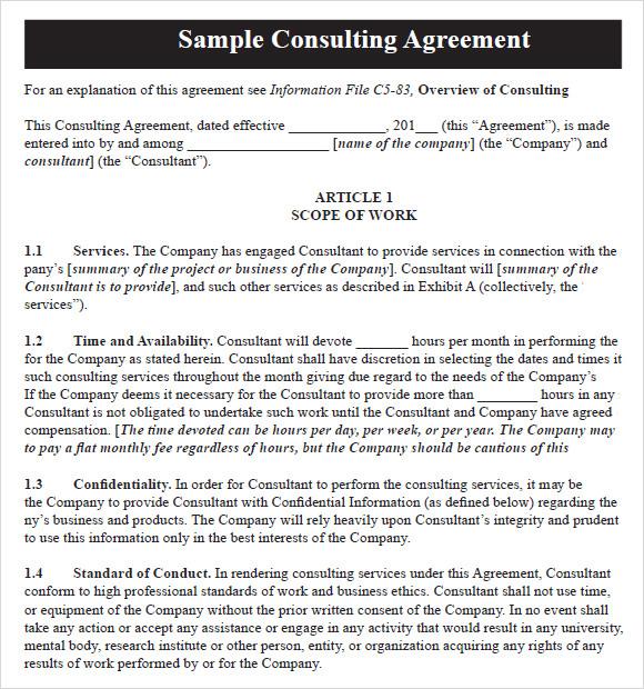 Business Retainer Agreement Sample Resume Maker Create