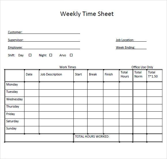 weekly time sheets multiple employees