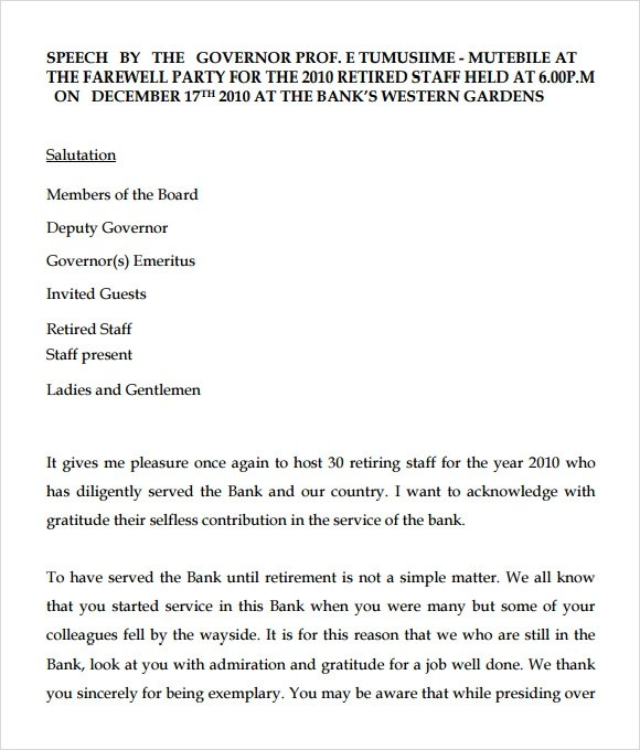 Employee Farewell Letter