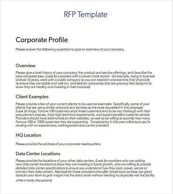 simple rfp template word