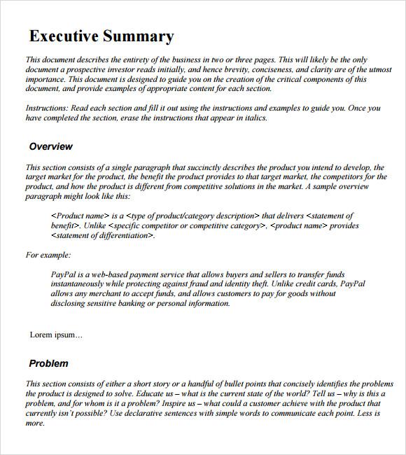 Resume Executive Summary