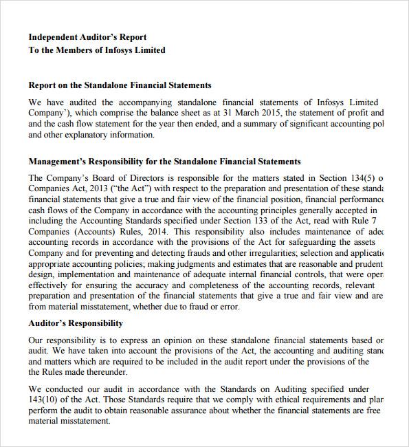 compliance audit report sample