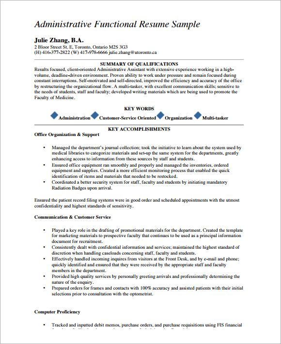 10 Functional CV Samples  Sample Templates