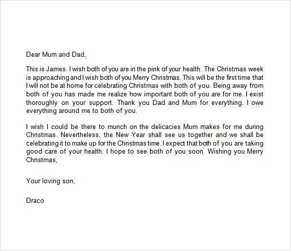 merry christmas letter sample