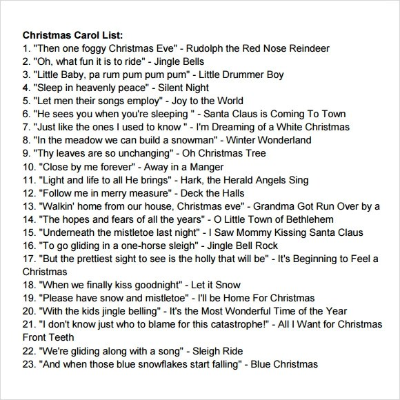 16 Christmas List Templates Download Documents In PDF