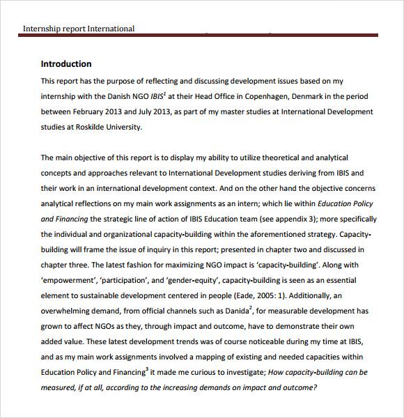 11 Internship Report Samples Sample Templates