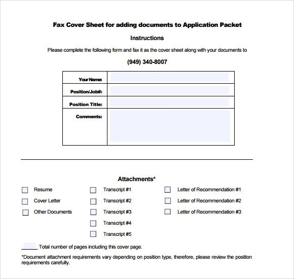 6 Professional Fax Cover Sheet Templates Download for Free | Sample ...