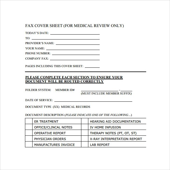 Sample Cute Fax Cover Sheet Template  9 Free Documents