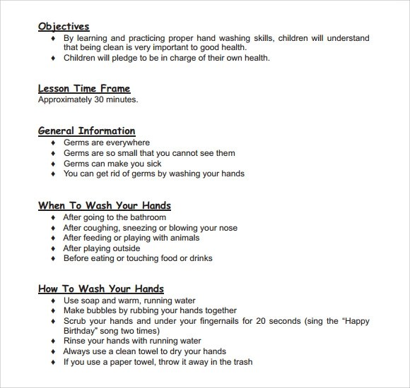 Sample Toddler Lesson Plan Template  8 Free Documents in PDF  Word
