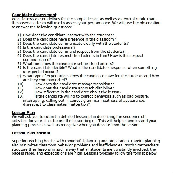 Sample High School Lesson Plan Template  9 Free Documents in PDF  Word