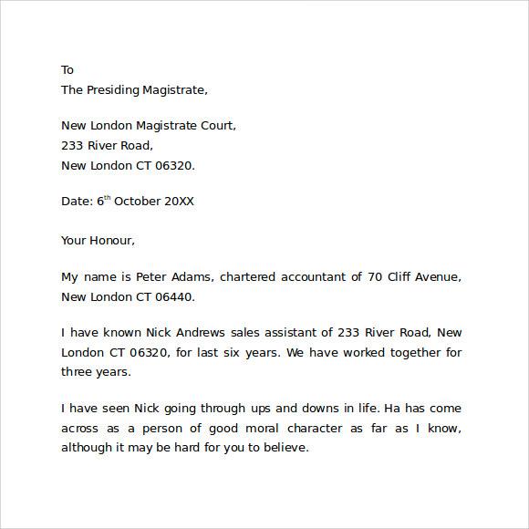 Sample Character Reference Letter For Child Custody Gungozq Eye