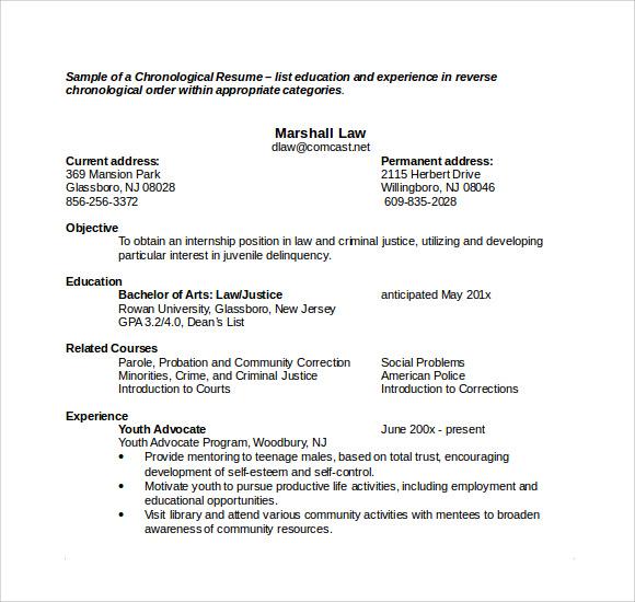 Sample Microsoft Resume  9 Documents in Word