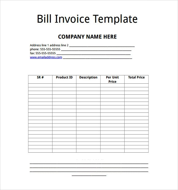15 Microsoft Invoice Templates Download For Free Sample