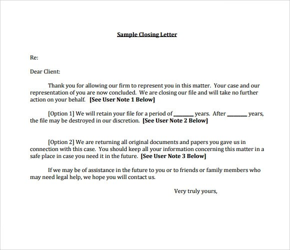 11 Sample Closing Business Letters PDF DOC