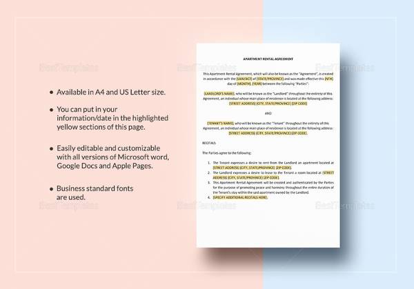 18 Room Rental Agreements to Download for Free   Sample Templates