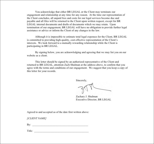 Sample Letter To Terminate Legal Representation | Docoments Ojazlink