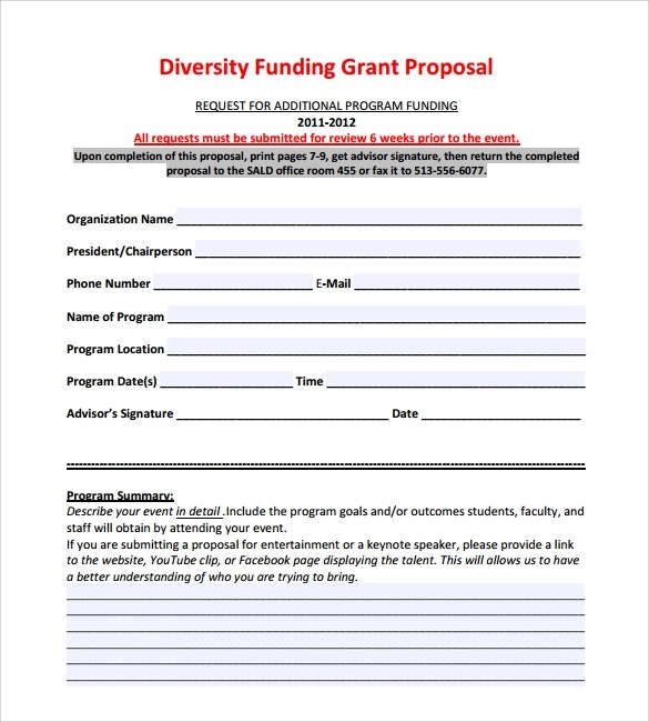 8 Funding Proposal Templates To Download For Free Sample Templates
