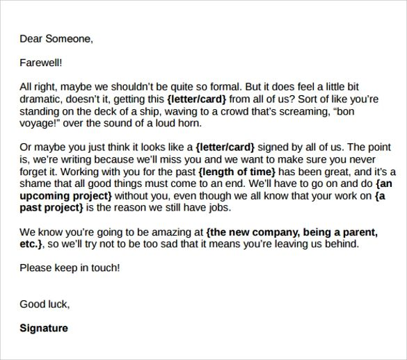 farewell email to coworkers samples