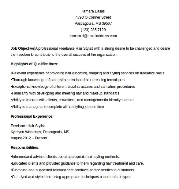 8 Hair Stylist Resume Templates To Download