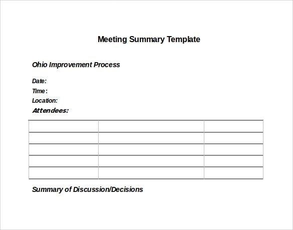 meeting notes word template