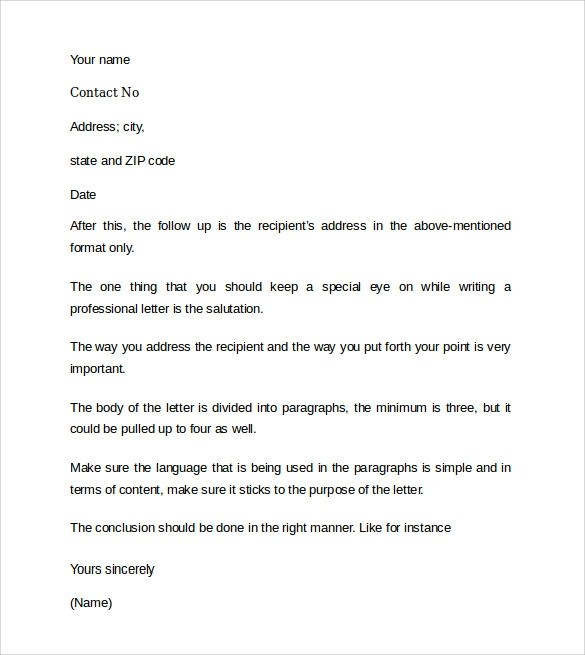 10 Professional Cover Letter Examples Sample Templates