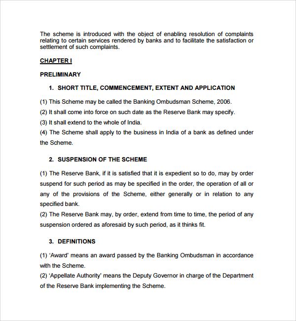 Banking Ombudsman Complaint Form 6 Free Samples