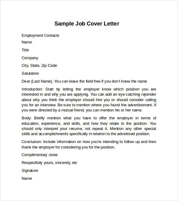 cover letter for fax sample