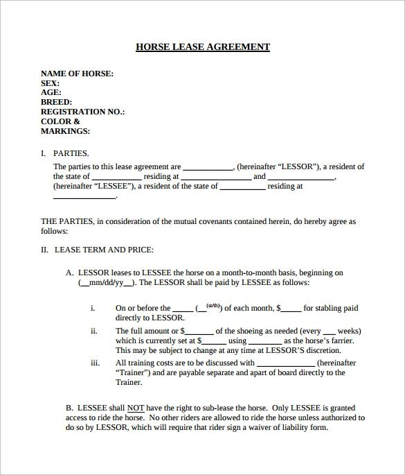example of an agreement