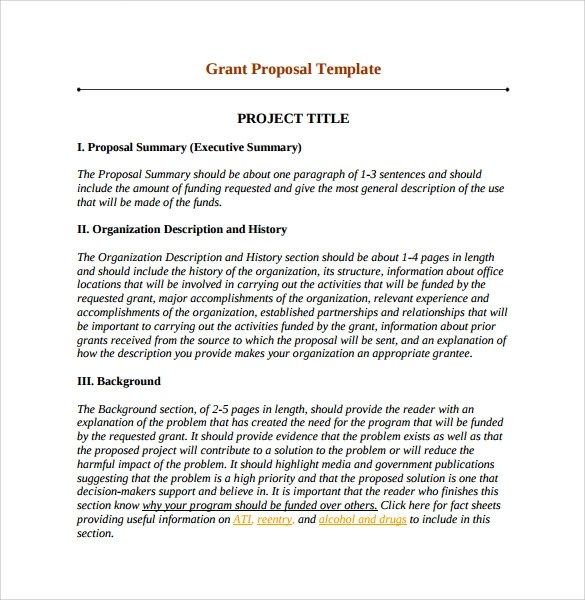 10 Sample Grant Proposals Word PDF Pages