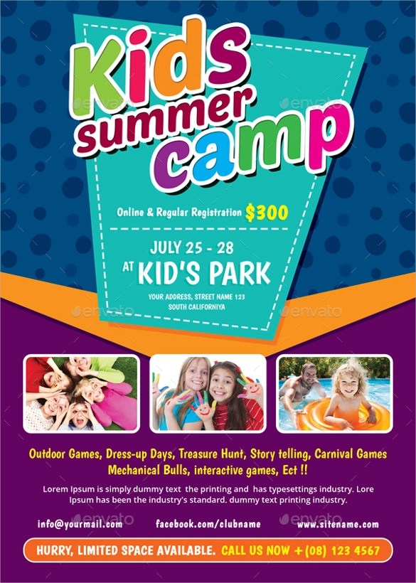 Summer Camp Flyer Template 12 Download Documents In PDF
