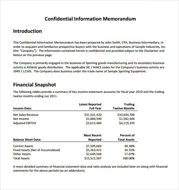 7 Sample Confidential Memos Sample Templates