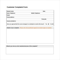 Sample Customer Complaint Form Examples - 8+ Free ...