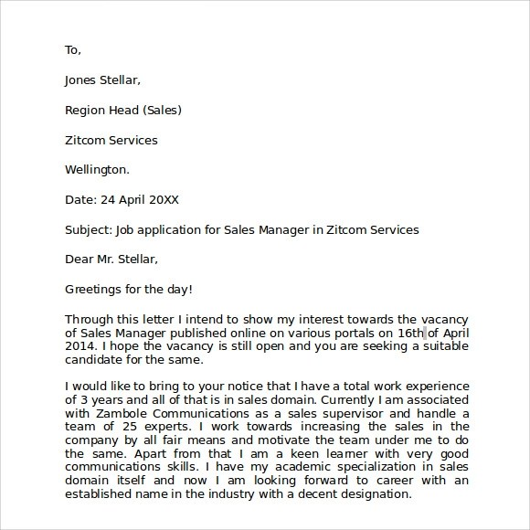 Free 8 Sample Business Letter Formats In Pdf Ms Word
