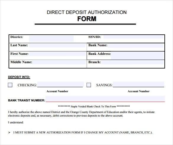 FREE 7+ Sample Direct Deposit Authorization Forms in PDF ...