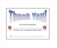 Sample Thank You Certificate Template - 10+ Documents ...