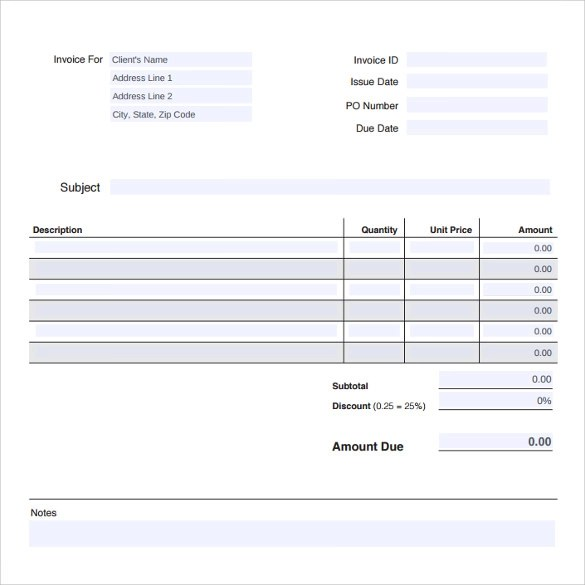 8 Professional Invoice Templates Download For Free