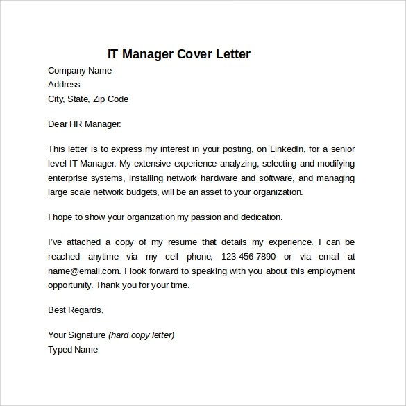 Cover Letter Technical Solution Architect
