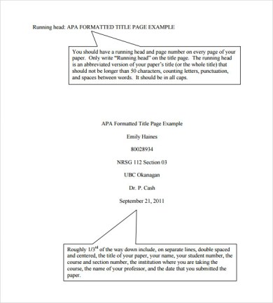 a title page is required in apa formatting of research papers compare contrast essay titles www