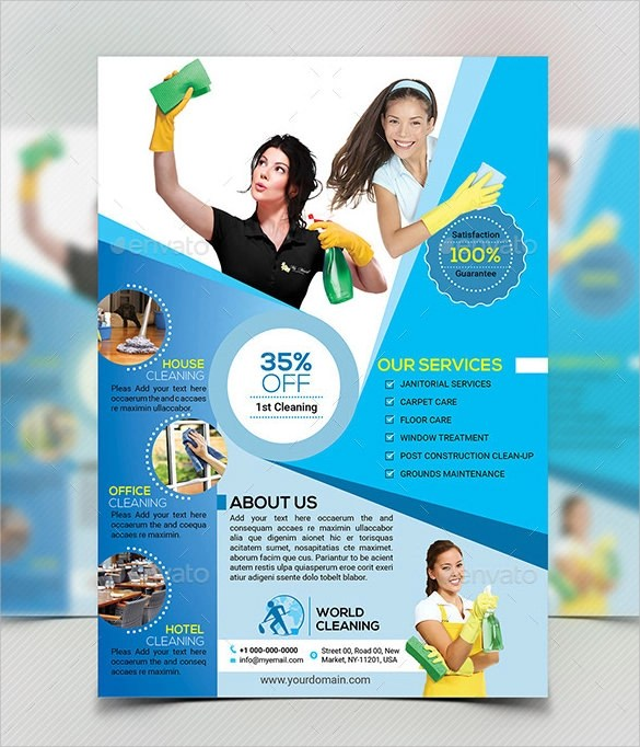 10 House Cleaning Flyer Templates to Download  Sample Templates