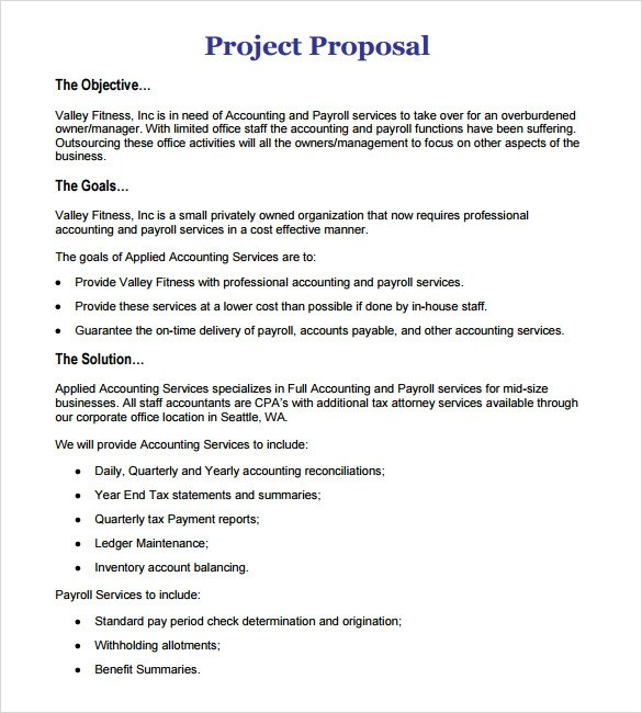 11 Work Proposal Samples Sample Templates