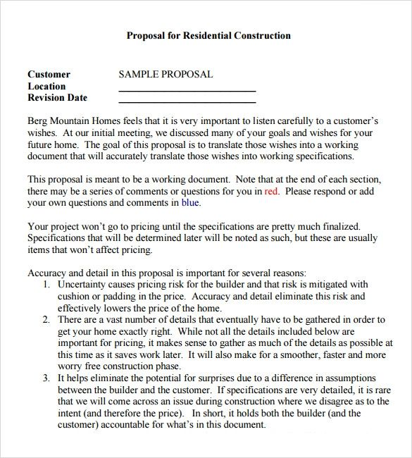 proposal agreement sample