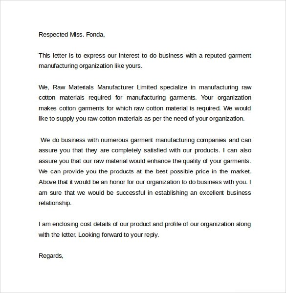 8 Business Cover Letter Templates To Download Sample