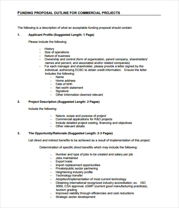Sample Funding Proposal Template 8 Free Documents In
